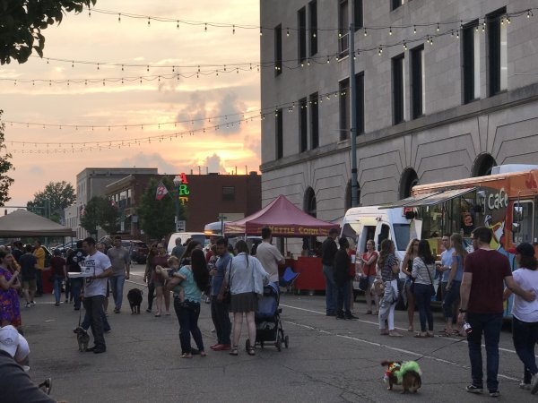 First friday in downtown canton arts district