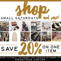 Shop Small Saturdays and SAVE in Downtown Canton
