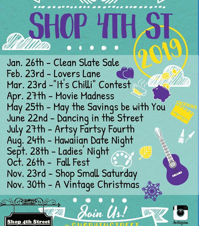 Shop 4th Street Downtown & Celebrate 4th Saturdays on 4th